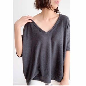 5🌟 Low V Neck warm relaxed Pullover Top